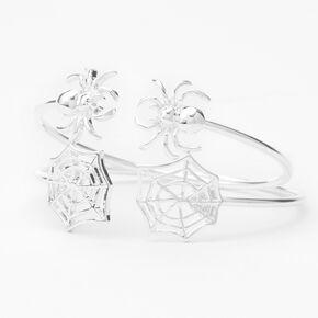 Silver Spider Web Cuff Bracelets - 2 Pack,