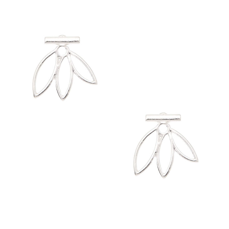Silver Modern Ear Jacket Earrings,