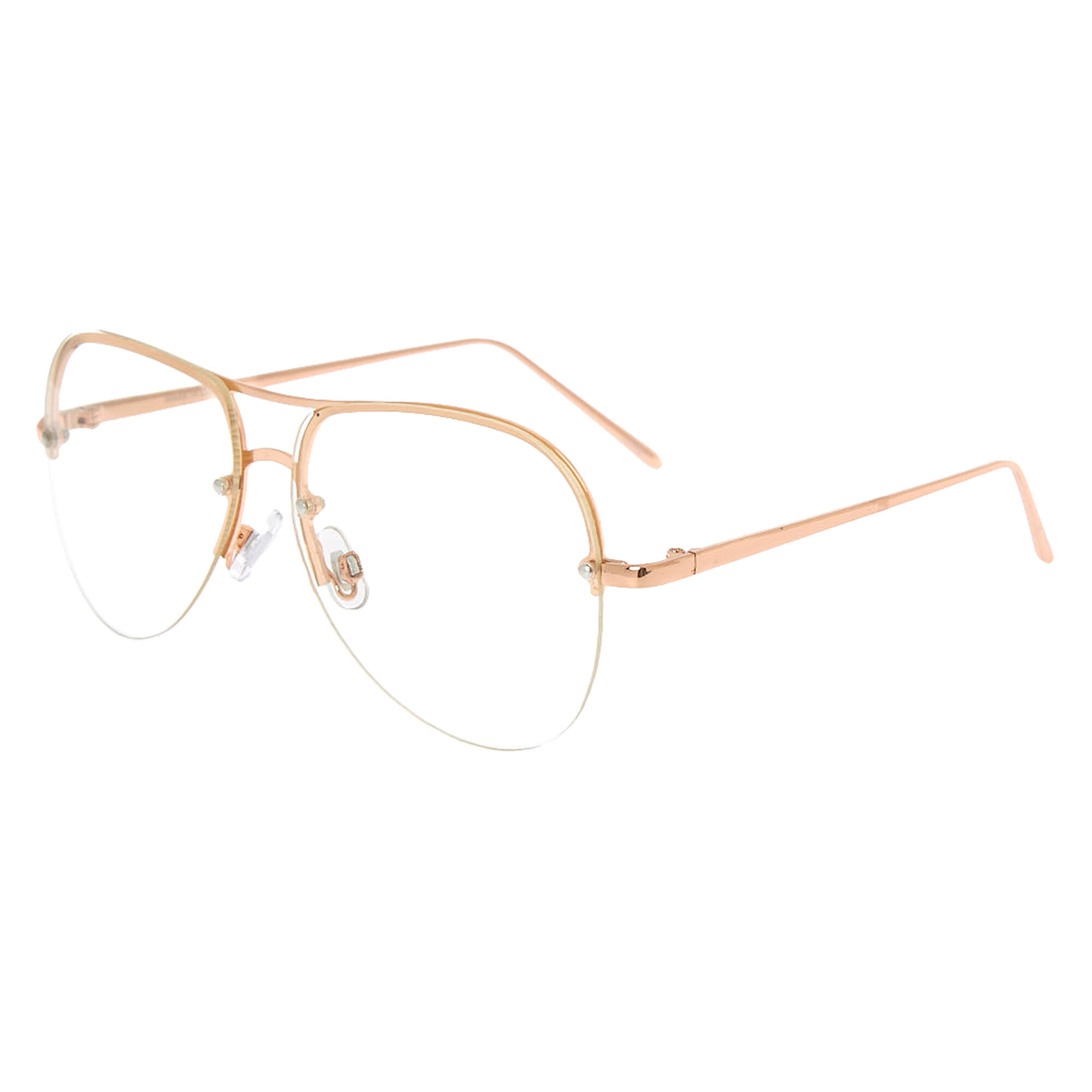 Rose Gold Aviator Frames | Icing US