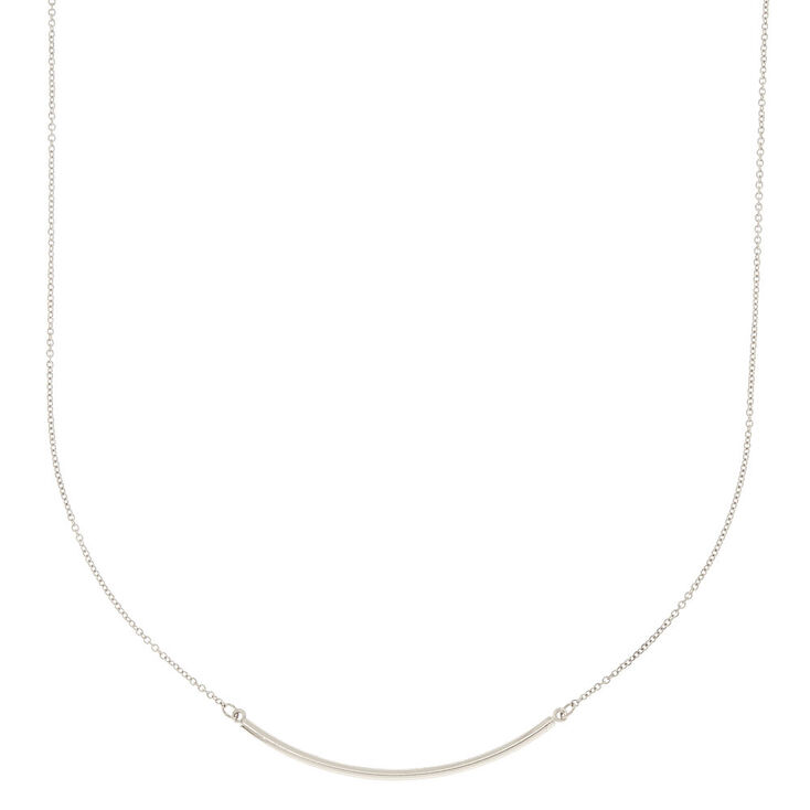 Silver Bar Necklace Chain,