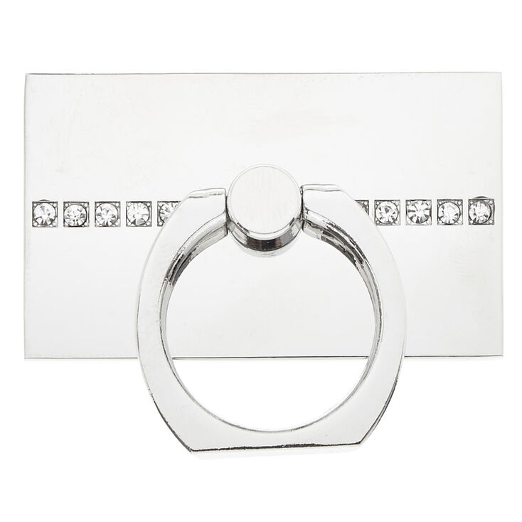 Silver Glam Plate Ring Stand,