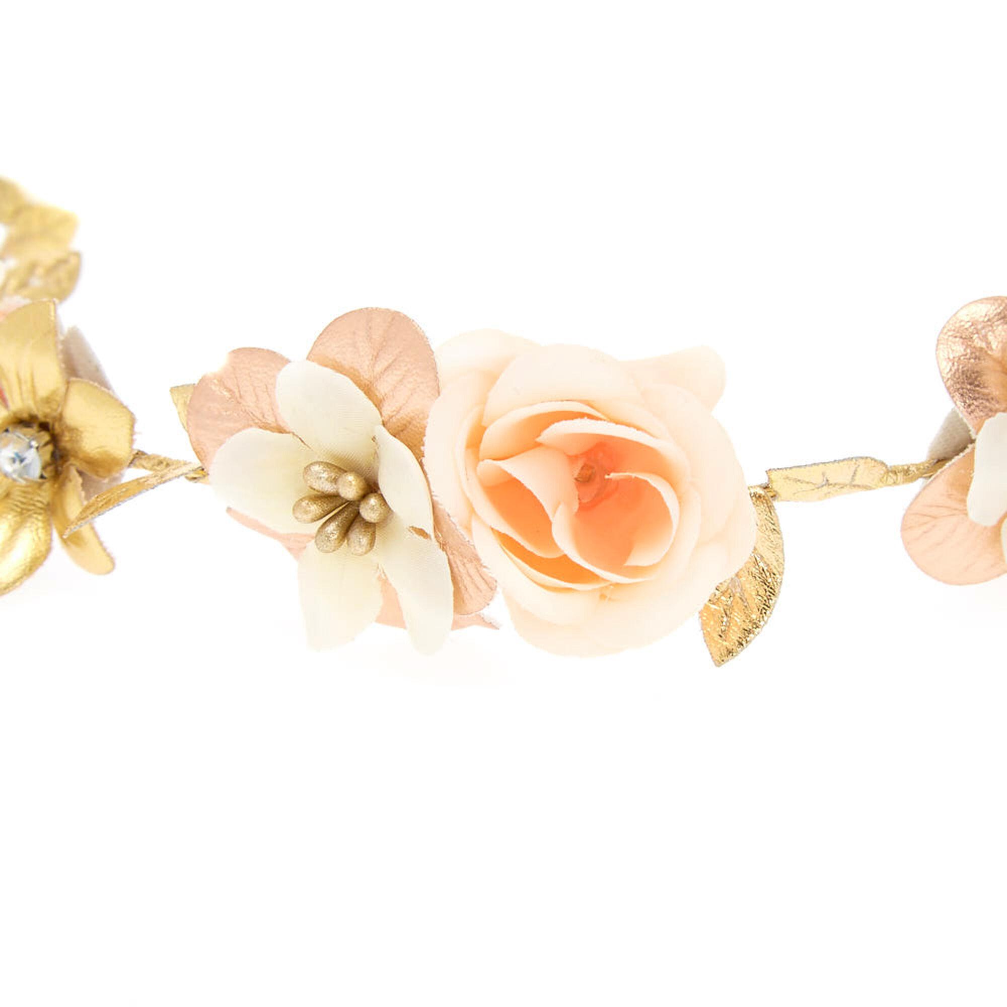 Rose gold flower crown tie headwrap icing us rose gold flower crown tie headwrap izmirmasajfo