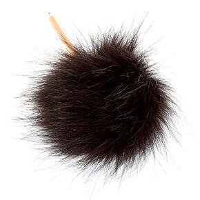 Black Faux Fur Pom Pen,