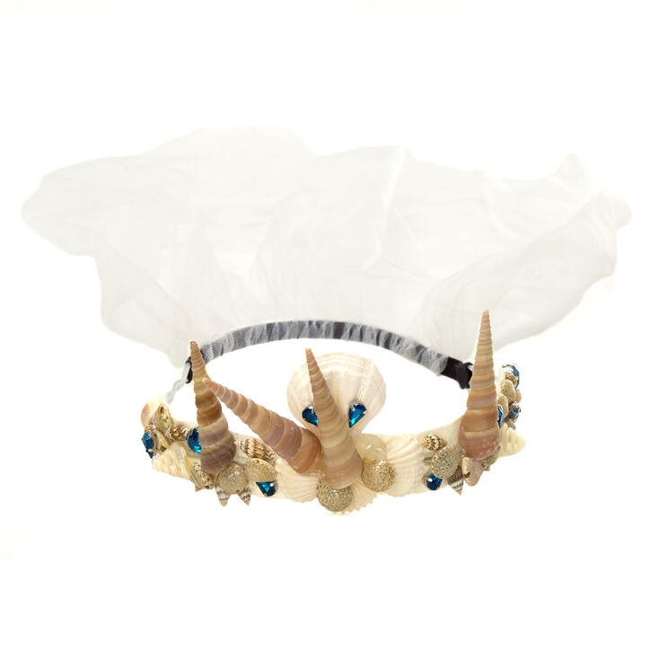 Mermaid Crown Seashell Veil,