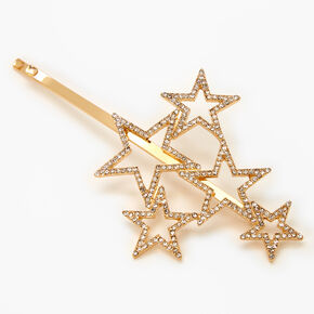 Gold Rhinestone Star Cluster Hair Pin,