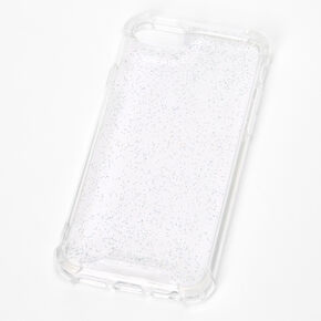 Clear Glitter Protective Phone Case - Fits iPhone 6/7/8/SE,