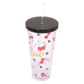 Mon Cheri Cherries Tumbler Cup - Clear,