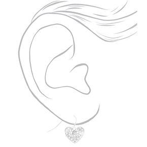 Silver Filigree Heart Jewelry Set - 2 Pack,