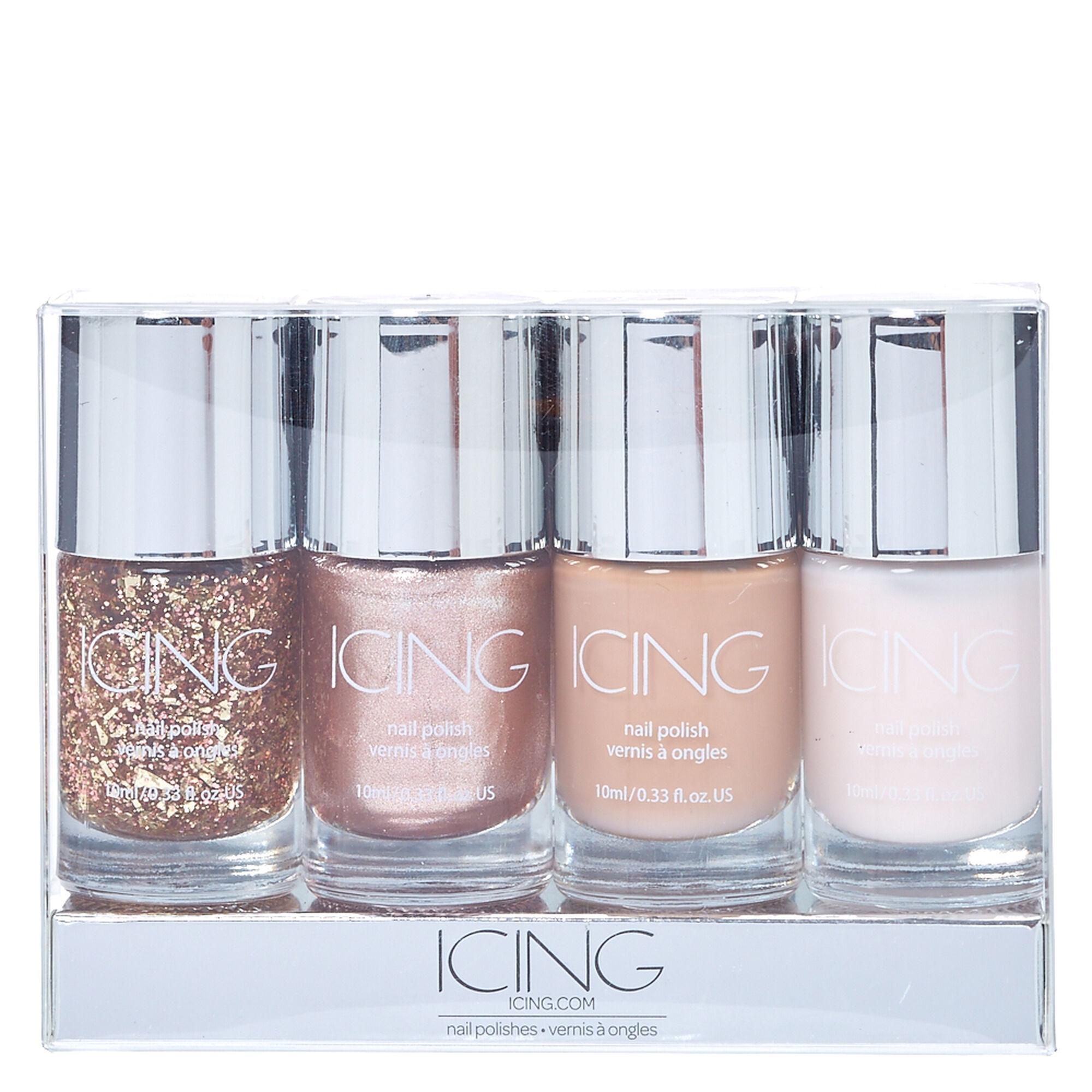 Nude Glitter 4 Pack Nail Polish Set | Icing US