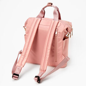 Nylon Midi Backpack - Blush,