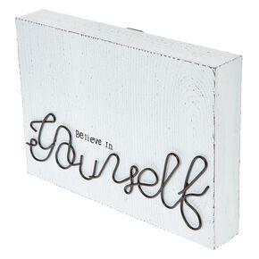 Believe In Yourself Wood Block Art,