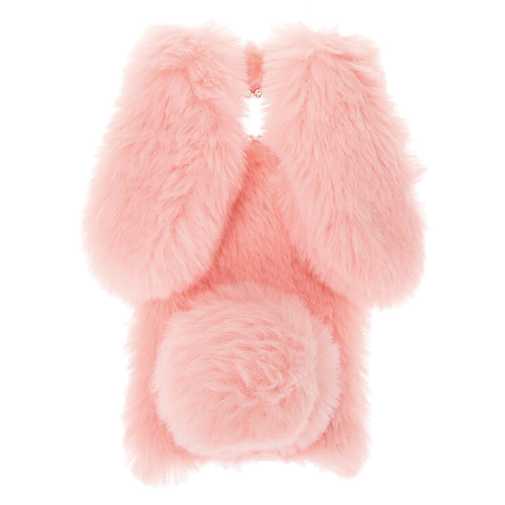 Pink Fur Bunny Phone Case- Fits Samsung Galaxy S8,