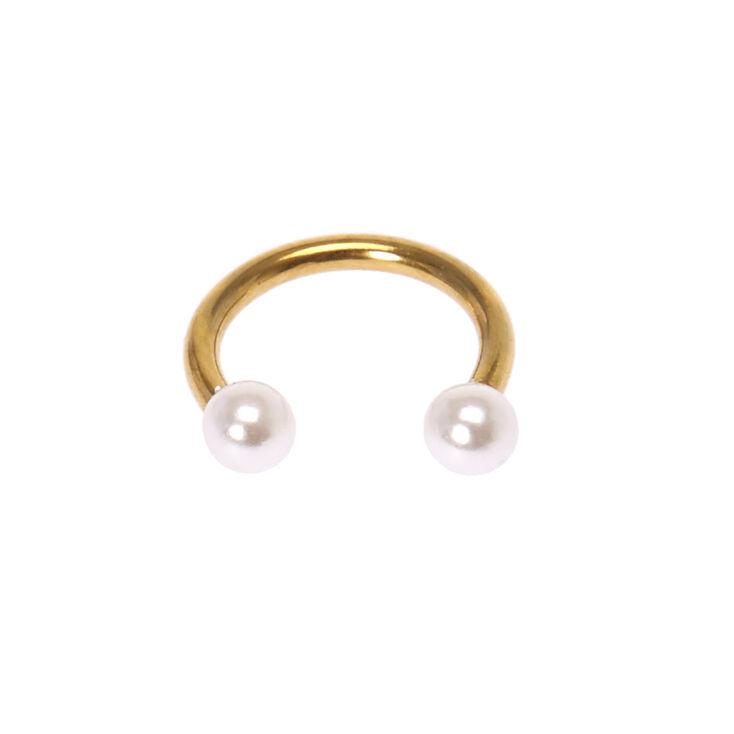 Pearl Horseshoe Tragus Earring,