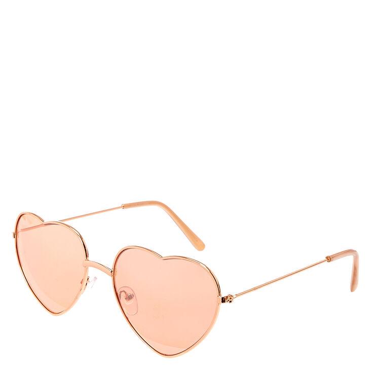 Heart Sunglasses - Rose Gold,