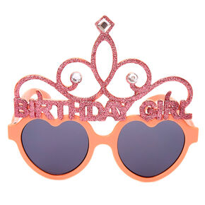 Birthday Girl Tiara Sunglasses - Pink,