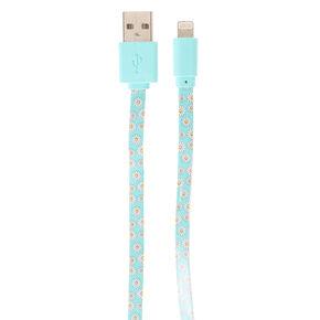 Mint Daisy USB Cord,