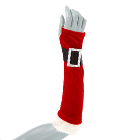 Santa Arm Warmers - Red,