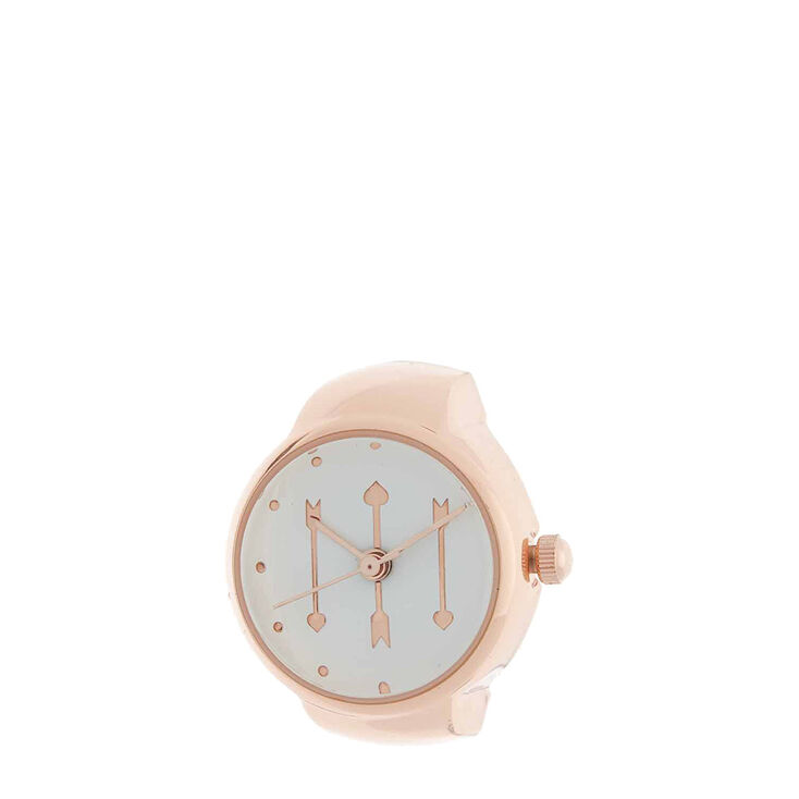 Rose Gold Mini Watch Ring,