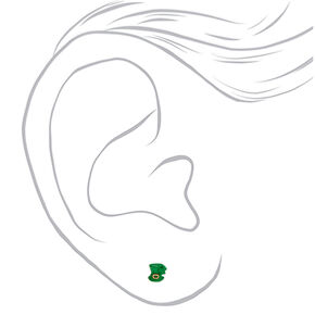 Silver St. Patrick's Day Stud Earrings - 6 Pack,