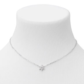 Silver Snowflake Pendant Necklace,