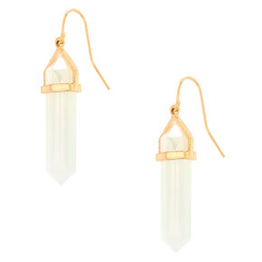 "Crystal Opalescent 1.5"" Drop Earrings,"