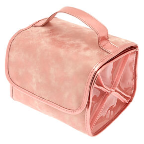 Dusty Shimmer Roll Out Travel Makeup Bag - Pink,