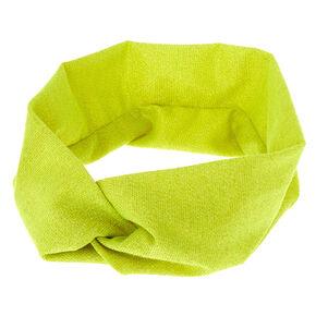 Lurex Wide Jersey Headwrap - Lime,