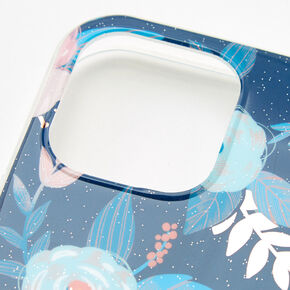 Blue Floral Protective Phone Case - Fits iPhone 12/12 Pro,