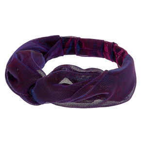 Shimmer Twist Headwrap - Purple,