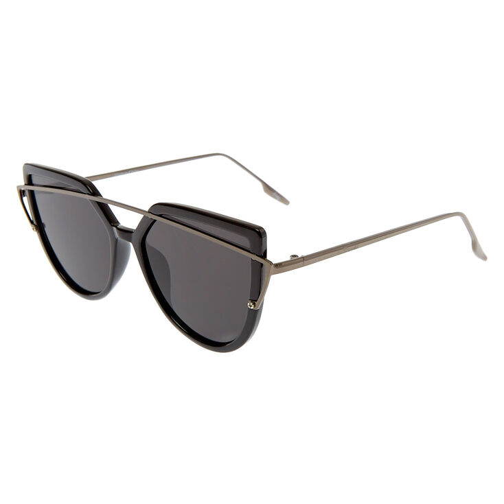 Brow Bar Cat Eye Sunglasses - Black,