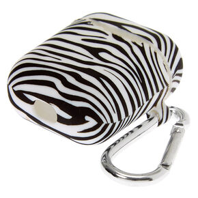 Zebra Silicone Earbud Case Cover - Compatible With Apple AirPods,