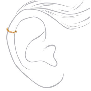 Gold Single Pearl Ear Cuff,