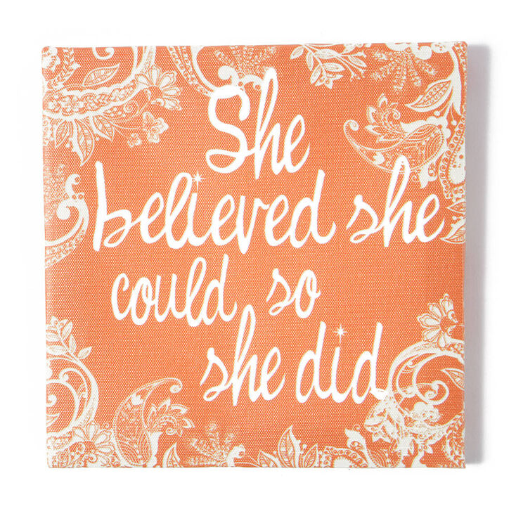 She Believed Could So Did Wall Canvas