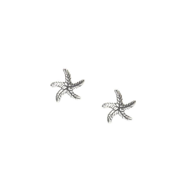 Sterling Silver Starfish Stud Earrings,