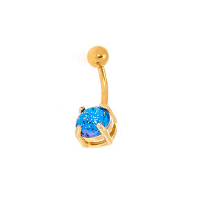 Gold 14G Galaxy Belly Ring,