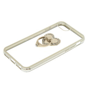 Heart Ring Holder Phone Case - Fits iPhone 6/7/8 Plus,