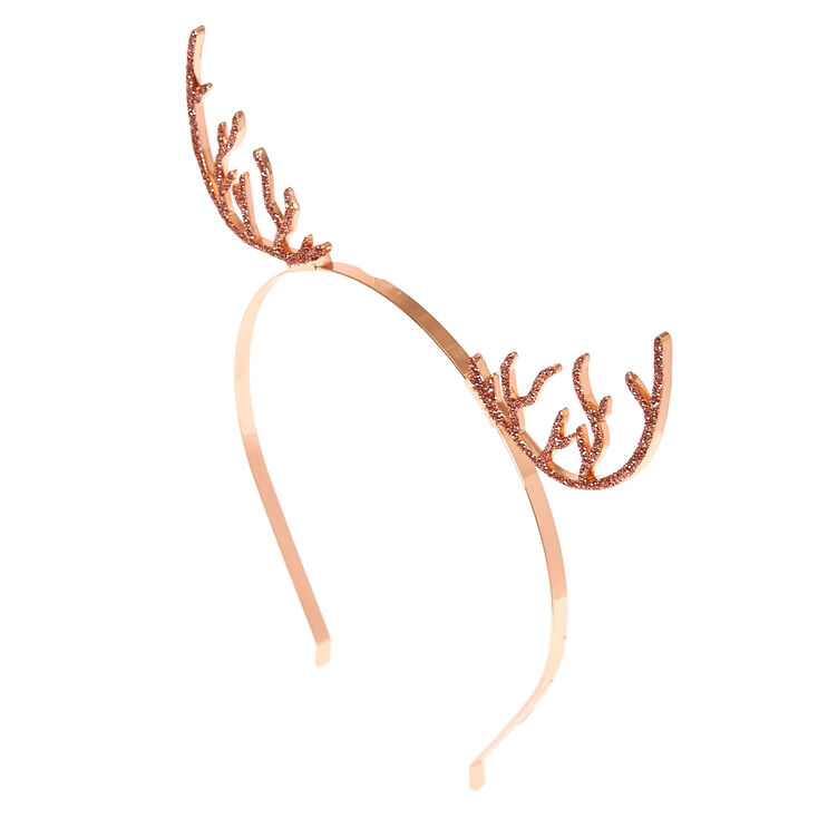 Rose Gold-Tone Antler Headband,