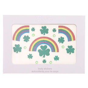 Rainbow Shamrock Body Stickers - Green,