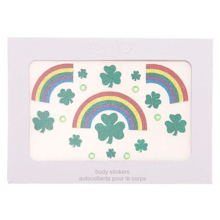 Rainbow Shamrock Body Stickers - Green,