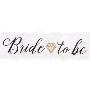 Bride To Be Lace Sash - White,