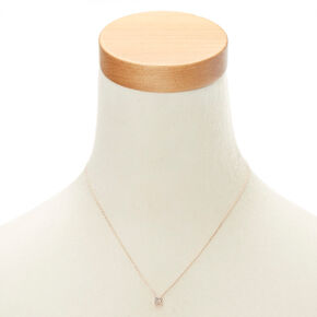 Rose Gold Studded R Initial Necklace,