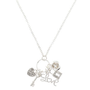 Silver Romantic Charm Pendant Necklace,