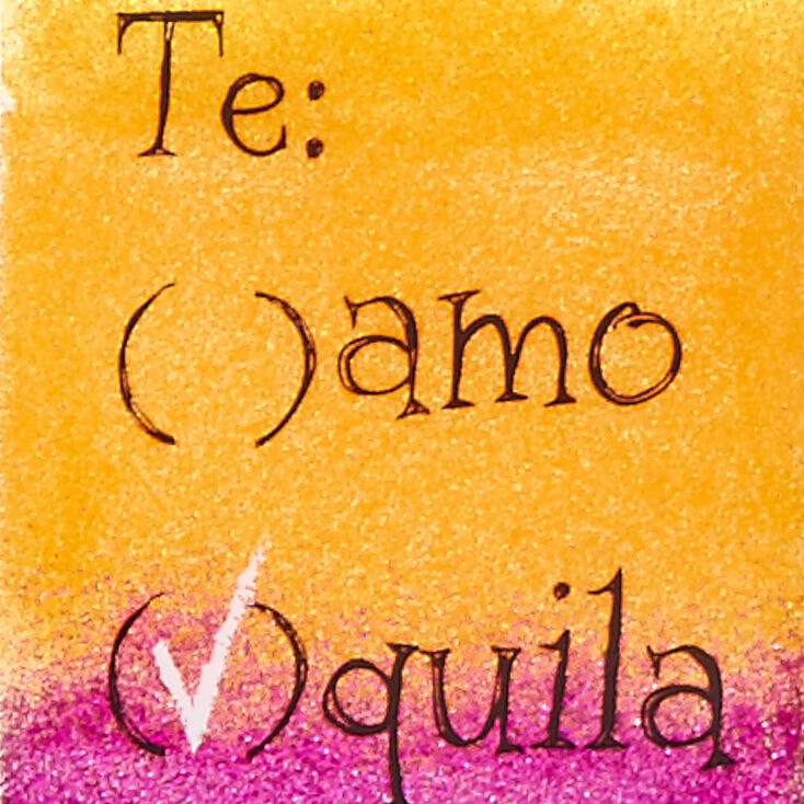 Te Amo Tequila Glitter Phone Case - Fits iPhone 6/7/8 Plus,
