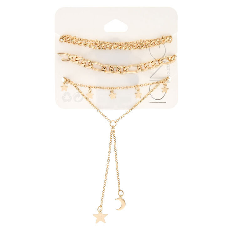 5 Pack Gold-Tone Bracelets,