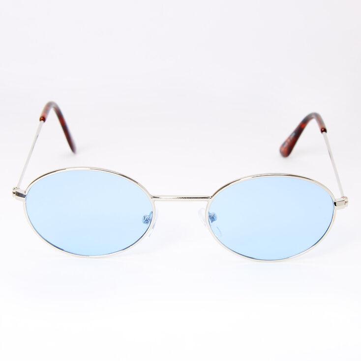 Slim Oval Sunglasses - Blue,