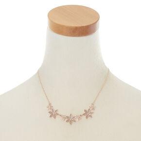 Rose Gold Glitter Flower Jewelry Set,