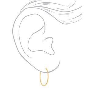 18kt Gold Plated 20MM Hoop Earrings,