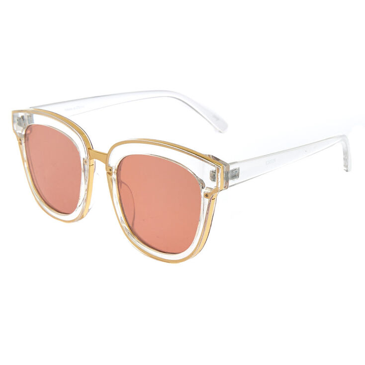 Clear Retro Sunglasses,