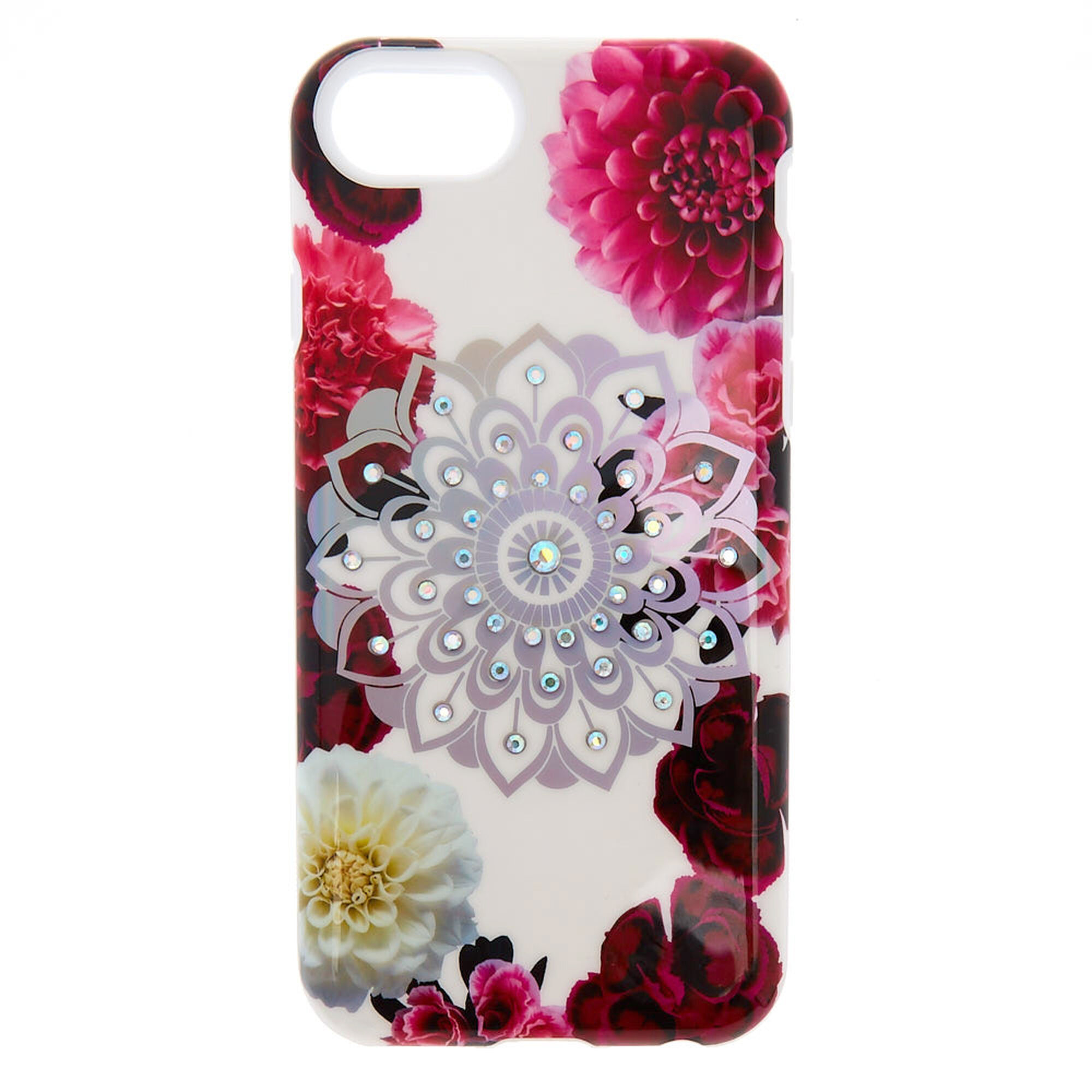 new product 686a8 b606c Floral Bling Mandala Protective Phone Case