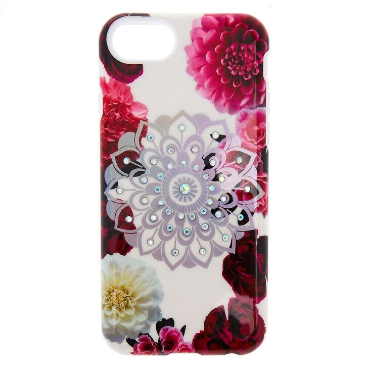 Floral Bling Mandala Protective Phone Case,